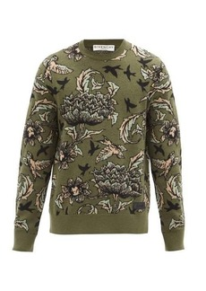 Givenchy Floral-jacquard wool-blend sweater