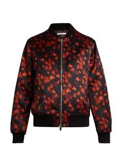Givenchy Floral-print cotton-blend satin bomber jacket