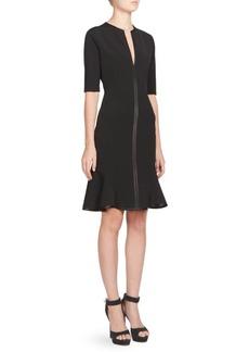 Givenchy Flounce Hem Sheath Dress