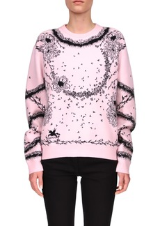 Givenchy Flower Jacquard Sweater