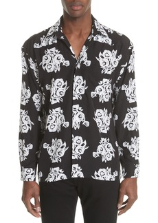 Givenchy Flower Print Woven Shirt