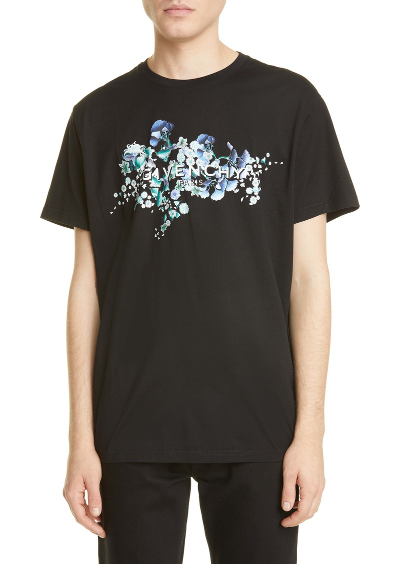 Givenchy Flowers Logo Graphic Tee