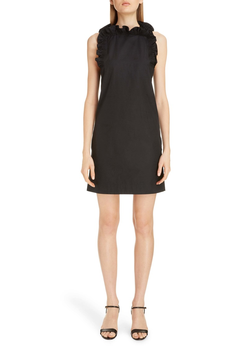 Givenchy Flutter Detail Sleeveless Poplin Dress
