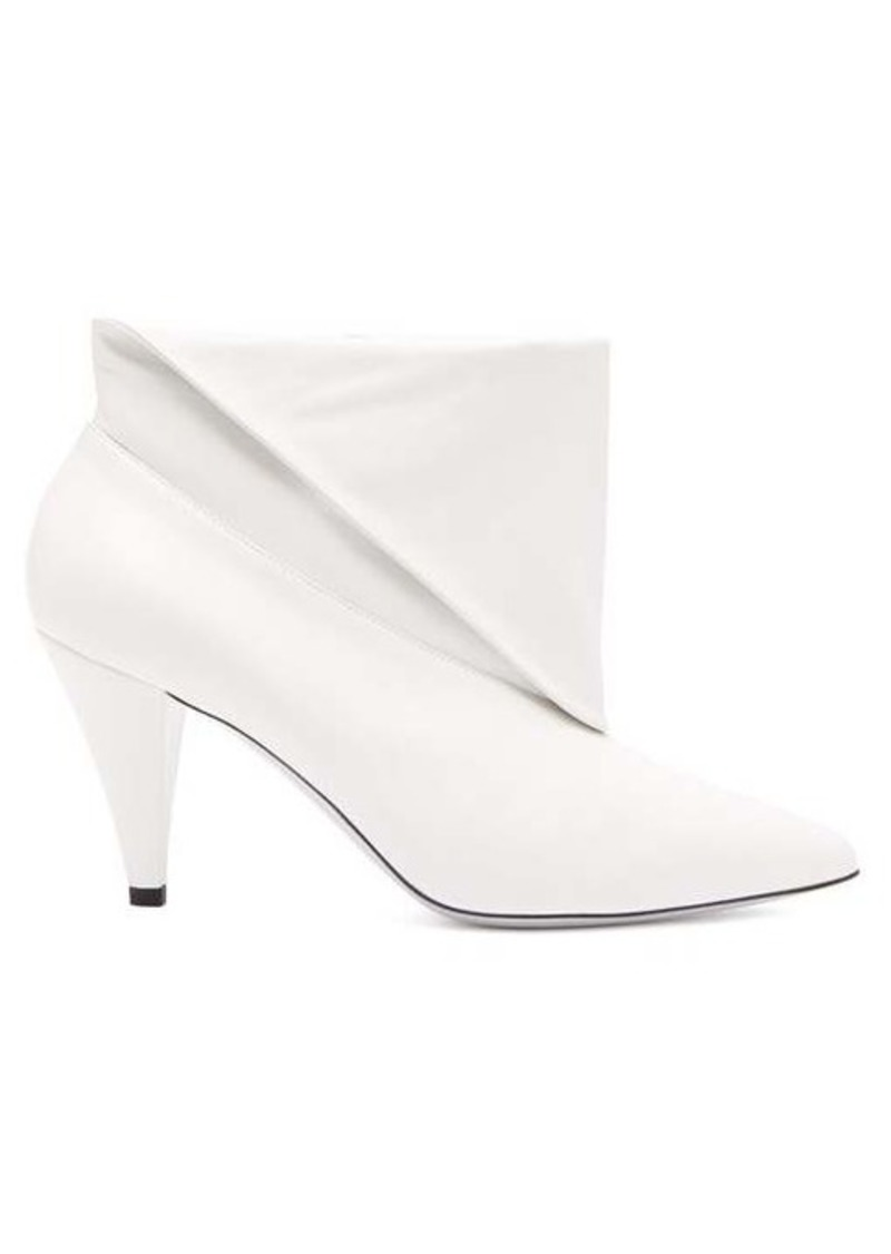 Givenchy Folded cuff leather ankle boots