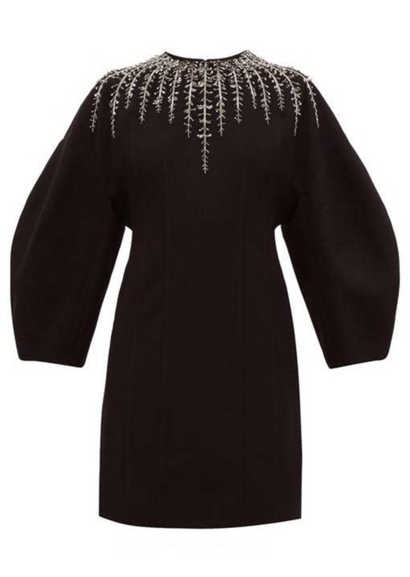 Givenchy Foliage-embellished crepe dress