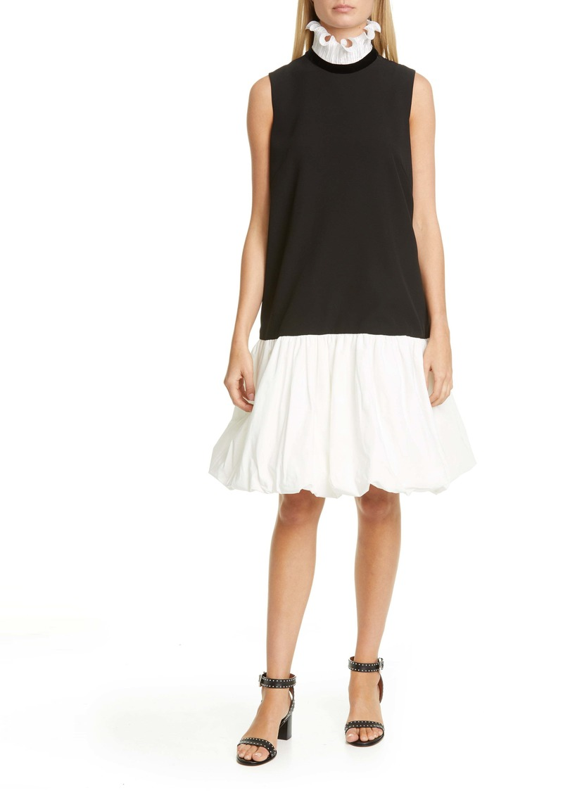 Givenchy Frill Collar Balloon Hem Shift Dress