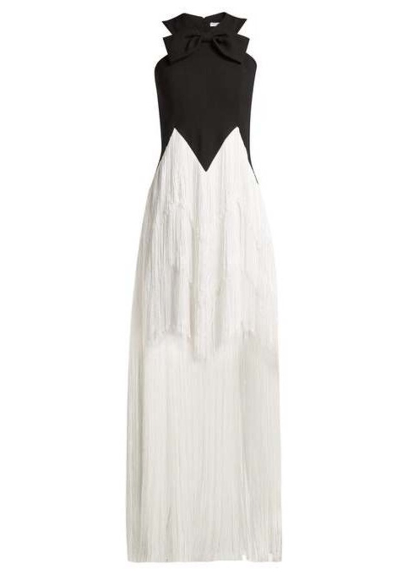 Givenchy Fringed wool gown