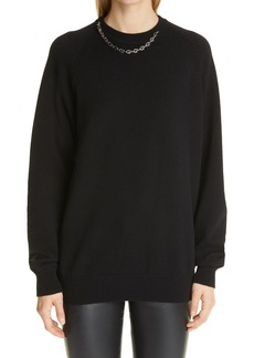 Givenchy G-Link Chain Collar Cashmere Sweater