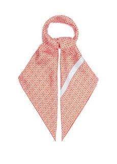 Givenchy G-print silk-satin scarf