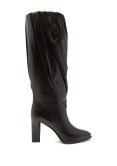 Givenchy Gathered knee-high leather boots