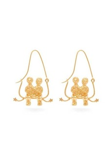 Givenchy Gemini zodiac hoop earrings