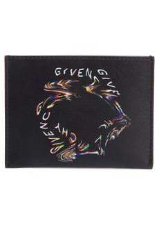 Givenchy Glitch Leather Card Holder