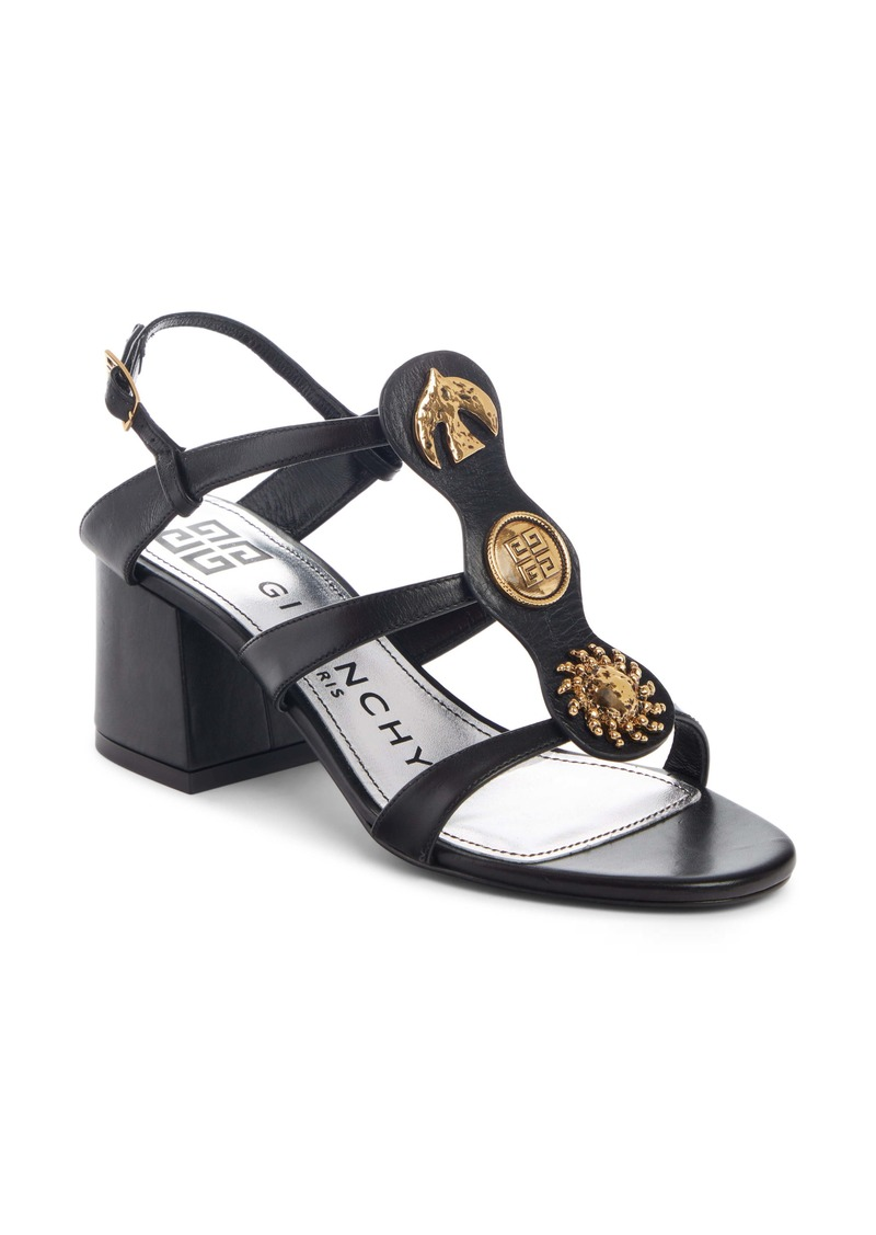Givenchy Gold Button Charm Sandal (Women)