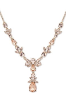 """Givenchy Gold-Tone Crystal Lariat Necklace, 16"""" + 3"""" extender"""