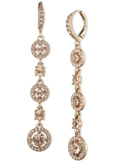 Givenchy Gold-Tone Crystal Linear Drop Earrings