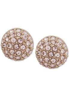 Givenchy Gold-Tone Pave Fireball Stud Earrings