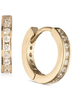 Givenchy Gold-Tone Pave Mini Huggie Hoop Earrings