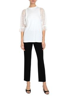 Givenchy Grain de Poudre Cigarette Trousers