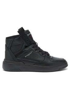 Givenchy Grained-leather high-top trainers
