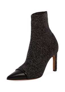 Givenchy Graphic Knit Cap-Toe Ankle Boot