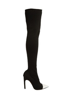 Givenchy Graphic over-the-knee ribbed-knit boots