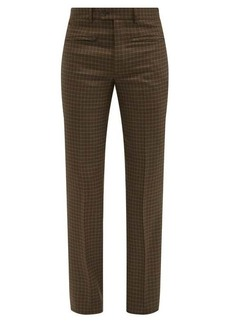 Givenchy Gun-club check wool-twill suit trousers