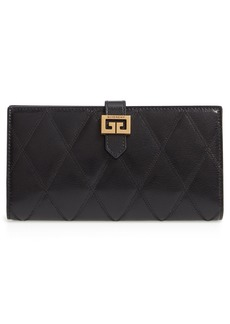 Givenchy GV3 Diamond Quilted Leather Wallet