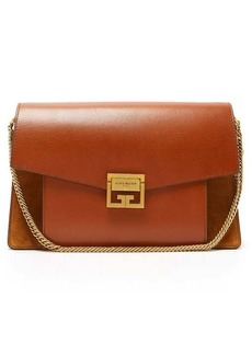 Givenchy GV3 medium suede and leather shoulder bag