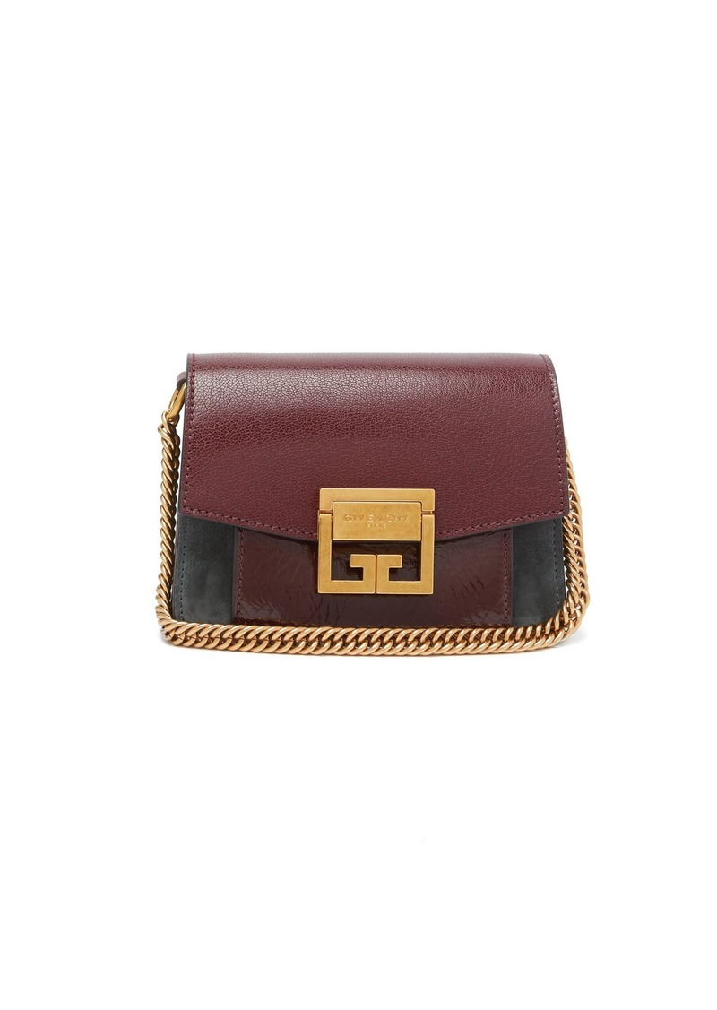 Givenchy Givenchy GV3 mini suede and leather cross-body bag  1261623ad5f38