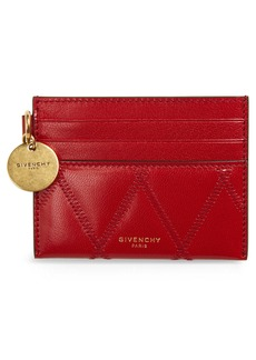 Givenchy GV3 Quilted Leather Card Case