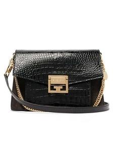 Givenchy GV3 small crocodile-effect leather cross-body bag