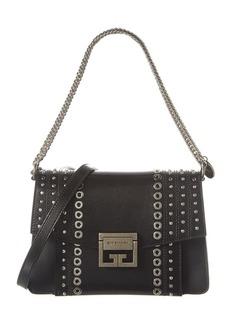 Givenchy Gv3 Small Eyelets & Studs Leather Shoulder Bag