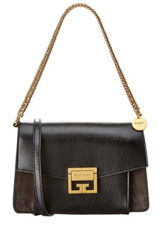 Givenchy Gv3 Small Leather & Suede Shoulder Bag