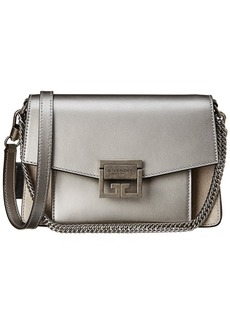 Givenchy Gv3 Small Metallic Leather & Suede Shoulder Bag