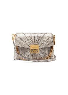 Givenchy GV3 small snakeskin cross-body bag