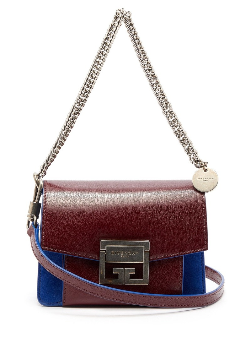 eef38817cc20 Givenchy Givenchy GV3 small suede and leather cross-body bag Now ...