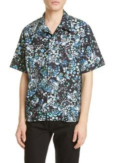 Givenchy Hawaii Floral Short Sleeve Button-Up Camp Shirt