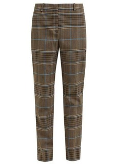 Givenchy High-rise checked wool-blend trousers