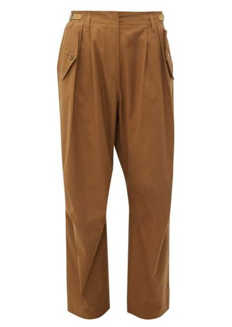 Givenchy High-rise cotton cargo trousers