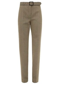 Givenchy High-rise houndstooth wool trousers