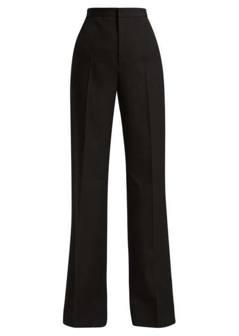 Givenchy High-rise pleated flared wool trousers