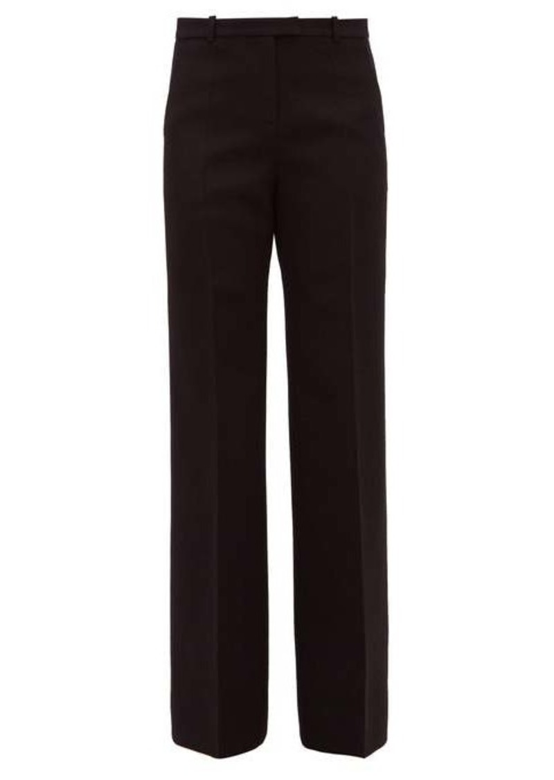 Givenchy High-rise wool-blend twill wide-leg trousers