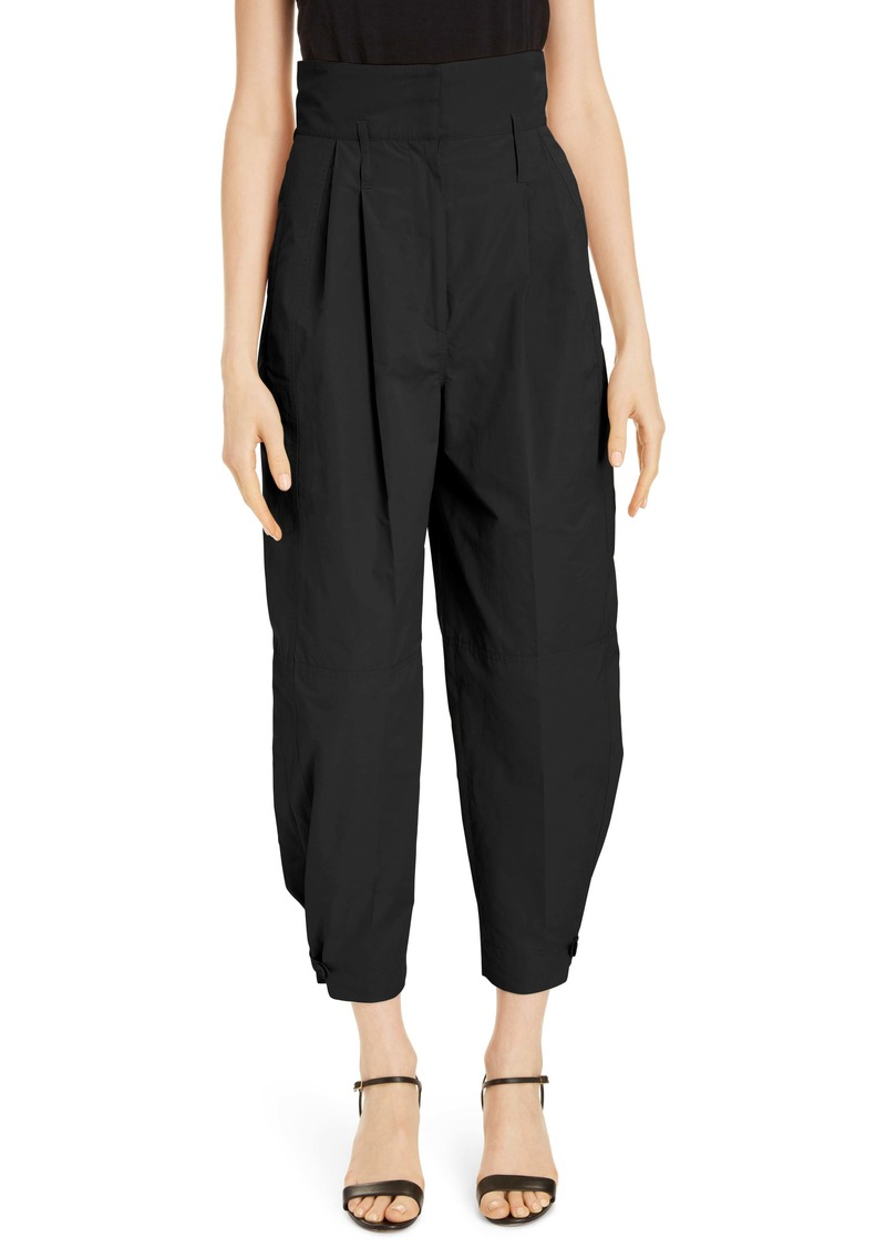 Givenchy High Waist Pleated Taffeta Pants