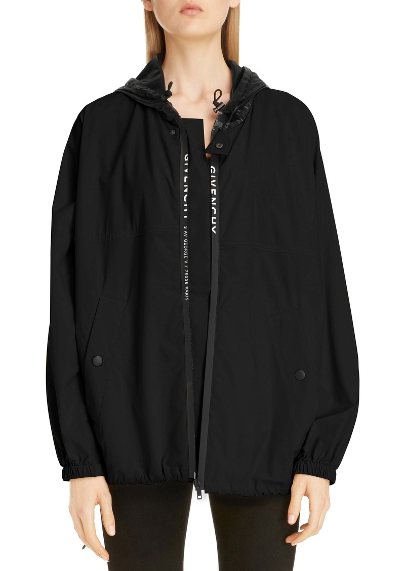 Givenchy Hooded Logo Windbreaker