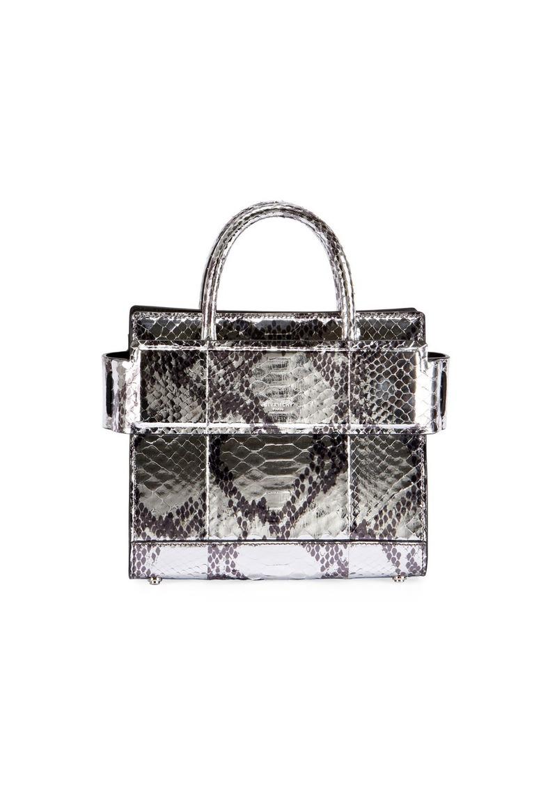 Givenchy Givenchy Horizon Mini Laminated Python Satchel Bag  eaf017677f1c1
