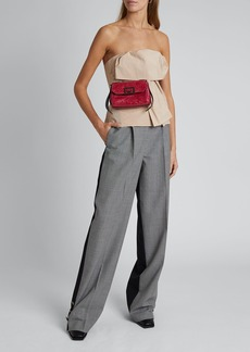 Givenchy Houndstooth Straight-Leg Trousers