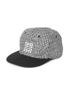 Givenchy Houndstooth Wool Snapback Hat