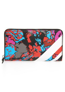 Givenchy Iconic Floral Print Zip Around Wallet
