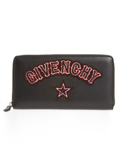 Givenchy Iconic Print Gothic Patch Zip Wallet
