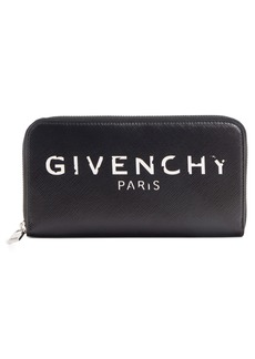 Givenchy Iconic Zip Around Leather Wallet